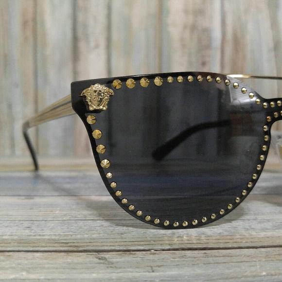 bbb639f9aca4 New Women s Studded Versace Sunglasses